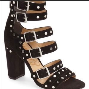 Sam Edelman York black studded heel size 9